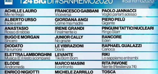 Cantanti Sanremo 2020
